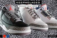 PREMIUM ELEPHANT PRINT AJ3 Shoelaces High Quality Laces BUY 1 GET 1 50% OFF