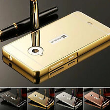 Aluminum Metal Frame Plastic Mirror Back Case Bumper For Mobile Cell Phones