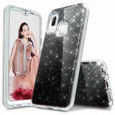 For Samsung A10e A20 A20s A50 A70 Bling Phone Case Cover With HD Tempered Glass