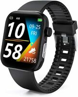 Smart Watch Activity Tracker Blood Oxygen Meter Heart Rate Blood Pressure(Black)