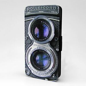 For Mobile Phone Flip Case Cover Rolleicord Vintage Camera - A842