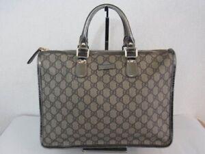 Auth WA10 GUCCI GG Supreme handbag Gold hardware from Japan