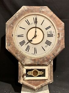 Antique Mid/Late 1800's New Haven Clock Co. Wall Clock