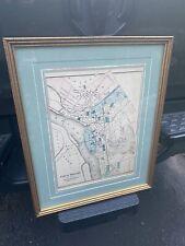 Vintage Framed 1872 Map Of Trenton, NJ