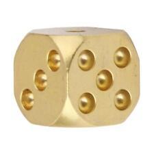 HECHO A MANO macizo pulido de metal de cobre DADOS SPOT 6 lados con GAME