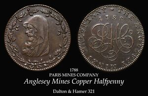 1788 Anglesey Mines Conder Halfpenny D&H 321, nice