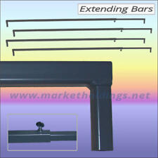 4 x Extending Market Stall Bars  Adjustable & Lockable Any Size From 1.8 - 3.35m