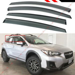 FOR 17-2021 SUBARU IMPREZA HATCHBACK 5DR SMOKE WINDOW VISOR RAIN GUARD DEFLECTOR
