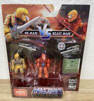 Mega Construx Pro Builders MOTU Masters of the Universe He-Man Vs Beast Man 🔥🔥