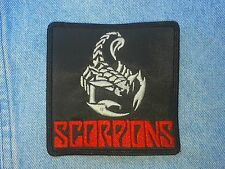 Scorpions embroidered patch heavy metal accept UFO UDO iron maiden motorhead