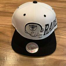 Oakland Raiders New Mitchell & Ness Helmet White Black Era Snapback Hat Cap