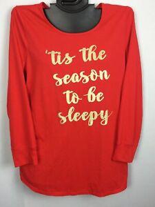 Cacique Cotton Blend Sleep Top RED Soft Night Shirt Lane Bryant 14/16 26/28L