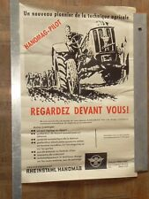 Affiche  Tracteur HANOMAG Combitrac Pilot tractor traktor trattore poster An 60