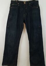 PJ Mark mens jeans size 34 dark wash boot cut cotton embroidered