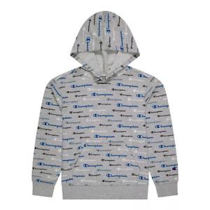 Boys 8-20 Champion Multi-Color Script Hoodie in Grey Size XL Retail $34.00