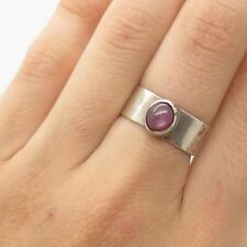 925 Sterling Silver Real Star Ruby Gemstone Ring Size 6 3/4