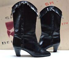 meazza style J.Fortuné Stiefel CHIMAYO Boots TRUE VINTAGE stivali Fransen black