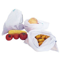Eco Friendly Reusable Mesh Produce Bags Superior Double-Stitched Strength