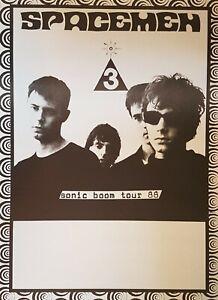 SPACEMEN 3 Tour POSTER 1988 Tour Gig Plakat Concert Jason Pierce Spiritualized