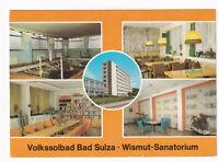 uralte AK Bad Sulza Wismut-Sanatorium Schwimmhalle Kantine Außenansicht 1985//36