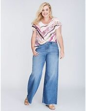 Lane Bryant Women's Mid Rise A-Line Trouser Jeans Size 20