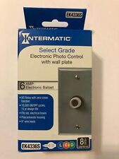 Intermatic EK4336S Electronic Photo Control with Wall Plate NEW SEALED Box
