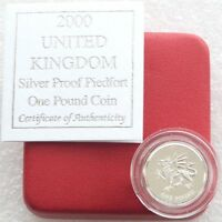2000 Royal Mint Welsh Dragon Piedfort £1 One Pound Silver Proof Coin Box Coa