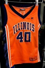Illinois Fighting Illini No 40 Basketball Jersey Youth (12-14) Medium