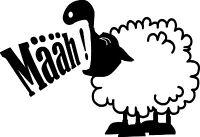 Schaf Määh!, Schafe, Das schwarze Schaf, Wandtattoo, Wandaufkleber Tiere lustig