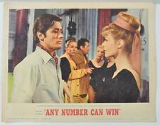 "Vintage ""Any Number Can Win"" Original Lobby Card 1964 11X14"