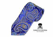 Lord R Colton Masterworks Tie - Ravello Royal Blue Paisley Silk Necktie - New