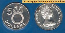 Solomon Islands Iles Salomon - 5 Dollars 1978  PROOF UNC Silver Argent 5 122 ex