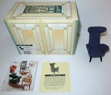 Vintage Take A Seat By Raine Miniature Dollhouse Slope Wingback c.1944 #24023
