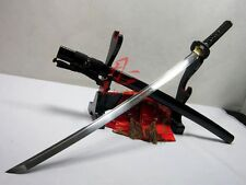 battle ready folded steel clay tempered dragon tsuba samurai katana sword sharp
