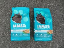 (2) Bags Iams Proactive Indoor Weight & Hairball Care Cat Food 3.5 lbs Each #O