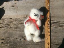 Ty White Bear  Stuffed Doll , Vintage Toy