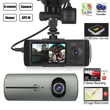 Dual Lens Dash Cam DVR HD Car Camera Video Recorder Night Vision G-sensor GPS