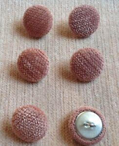 Rose Pimlico Chenille Velvet 30L/19mm Upholstery Loop Back Buttons Dusky Pink