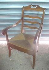 fauteuil paillé noyer 19eme walnut armchair