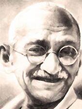 Impresión Cartel Pintura Retrato político indio Leyenda Mohandas Gandhi nofl0089