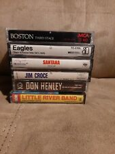 6 Classic Rock Cassette Lot, Boston, Santana, Eagles, Little River Band, Don...