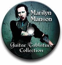 MARILYN MANSON ROCK GUITAR TABS TABLATURE SONG BOOK SOFTWARE CD LIBRARY