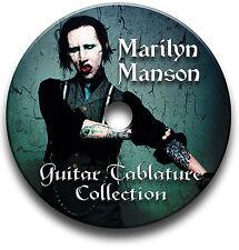 MARILYN MANSON ROCK GUITAR schede tablature CANZONIERE libreria software CD
