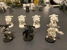 Warhammer 40K C.S.M. Death Guard Plague Marines x7 Metal OOP 0159