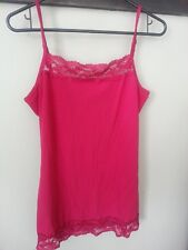Maurices womens ladies large tank w/lace cami, red burgandy