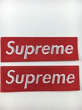 2Pc Red Supreme Clothing - Iron on Embroidered Patch Usa Seller! Fast Shipping!