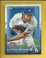 Clayton Kershaw 2015 Topps Opening Day Card # 40 Los Angeles Dodgers Baseball