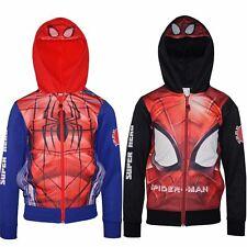 Boys RH1330 Marvel Spiderman Full Zip Hooded Sweatshirt Size: 3-8 Years