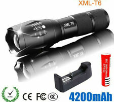 Rechargeable LED Flashlight T6 Zoomable Tactical Light Modes Police Camping