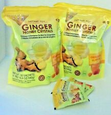 2 BAGS Ginger Honey Crystals Instant Tea by Prince of Peace 30 sachets x2 = 60